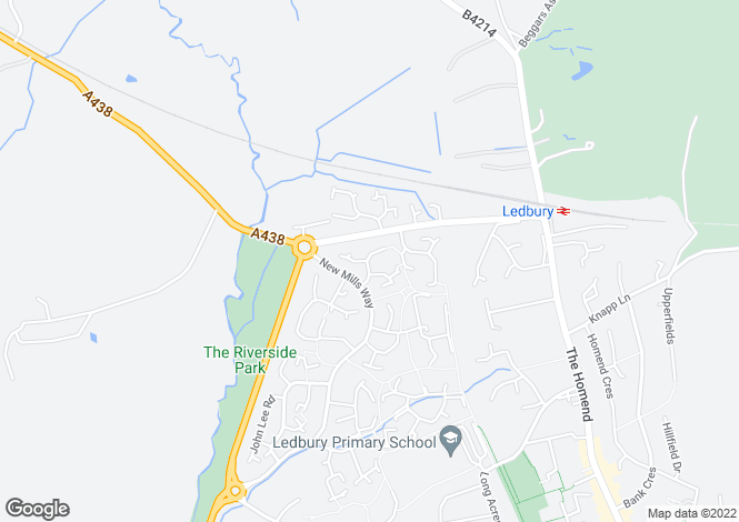 Map for Viking Way, Ledbury, Herefordshire
