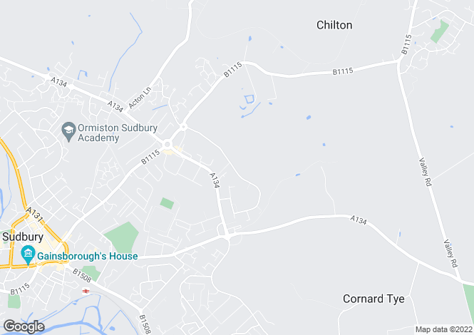 Map for Skyview Centre, 9 Church Field Road, Sudbury, Suffolk, CO10 2YA