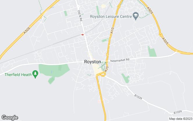 Map for Thomas Morris, Royston