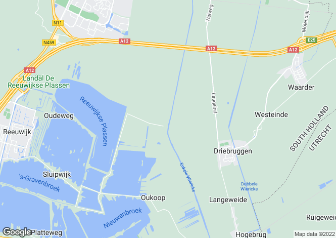 Map for Zuid-Holland