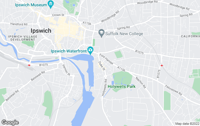 Map for Home From Home, Ipswich