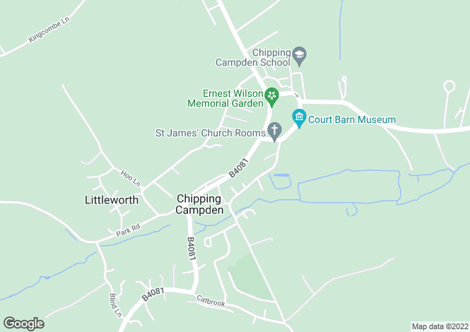 Map for High Street, Chipping Campden, Glos