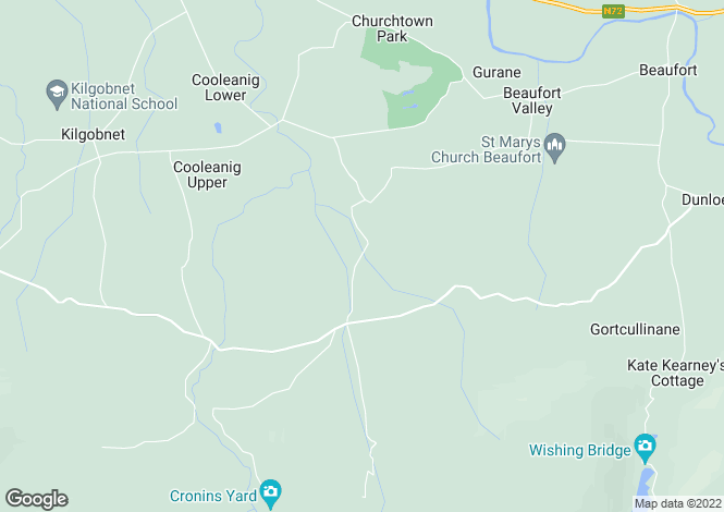 Map for Killoughane, Beaufort, Killarney, Kerry