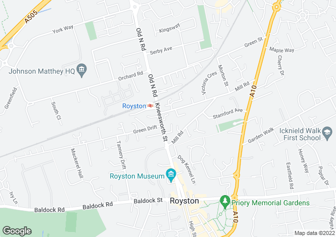 Map for Rivermill Court, Royston (M132l)