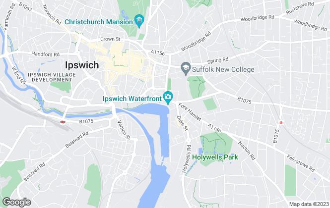 Map for Nicholas Estates, Ipswich