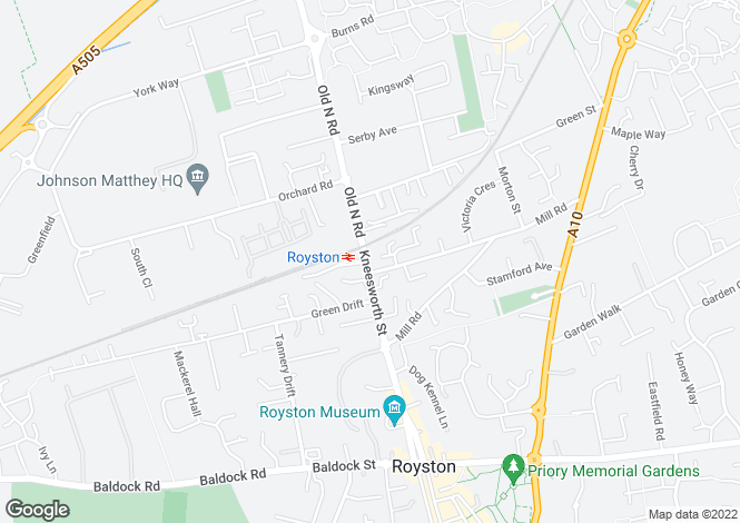 Map for Kneesworth Street, Royston (C146L)