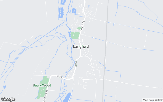 Map for Lane & Bennetts, Langford