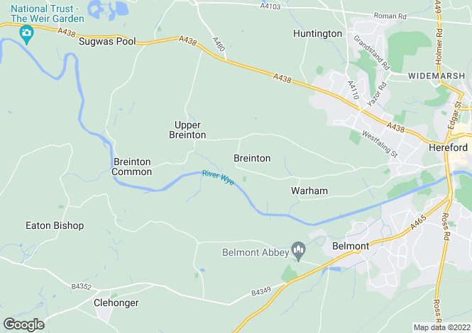 Map for Breinton Court, Lower Breinton, Herefordshire