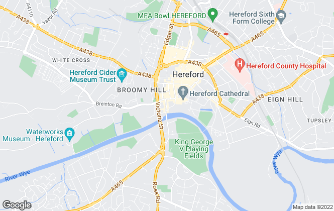 Map for Andrew Morris Estate Agents Limited, Hereford