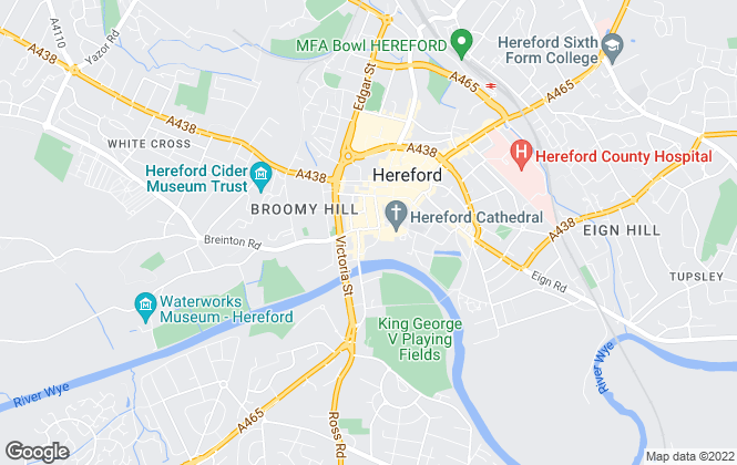 Map for Cobb Amos, Hereford