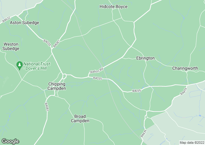 Map for Battle Brook Drive, Chipping Campden, GL55
