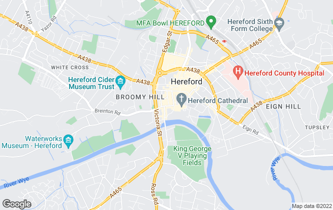 Map for Chancellors, Hereford Lettings