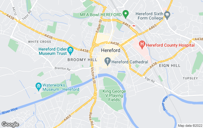 Map for Brightwells, Hereford