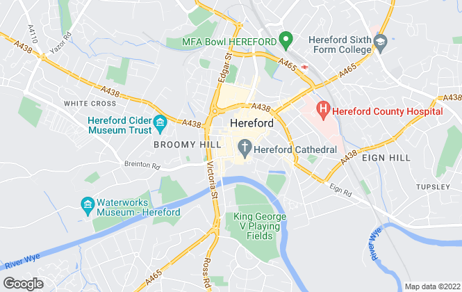 Map for Andrew Grant, Hereford