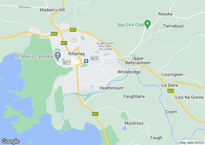 Map for 2.5 acre development site at Ballycasheen, Killarney,Co. Kerry, Killarney, Kerry