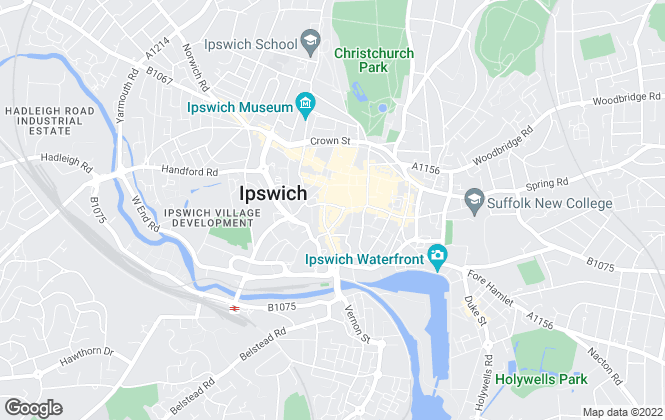 Map for David Brown & Co, Ipswich