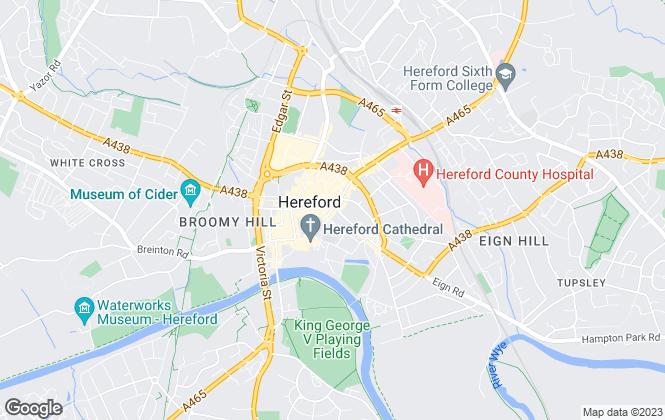 Map for Sunderlands, Hereford