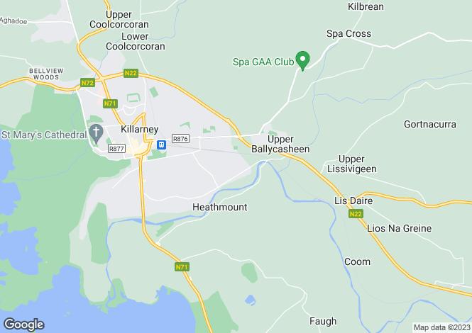 Map for 48 Flesk Grove,Ballycasheen, Killarney, Kerry