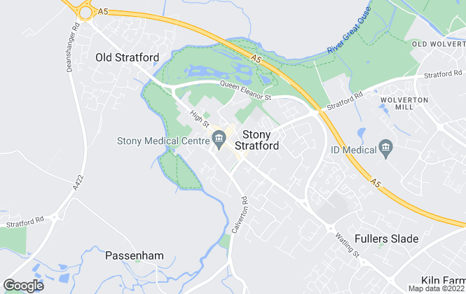 Map for Taylors Estate Agents, Stony Stratford