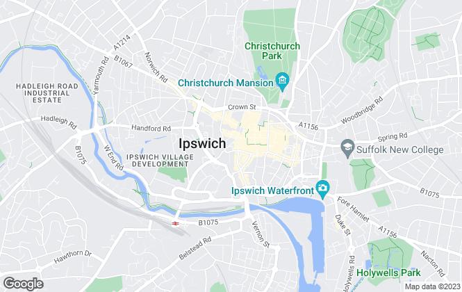 Map for Nicholas Estates, Ipswich Town & Waterfront