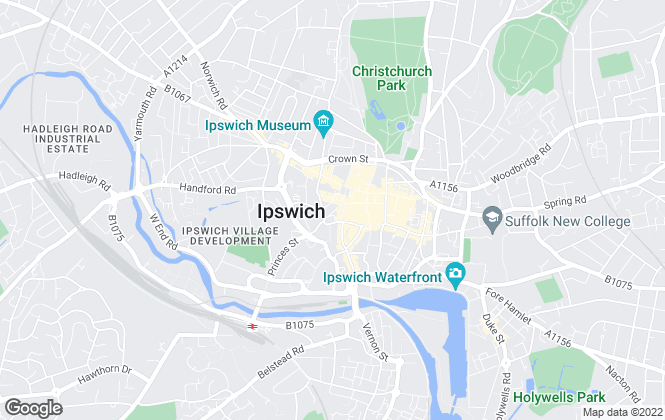 Map for William H. Brown - Lettings, Ipswich  Lettings