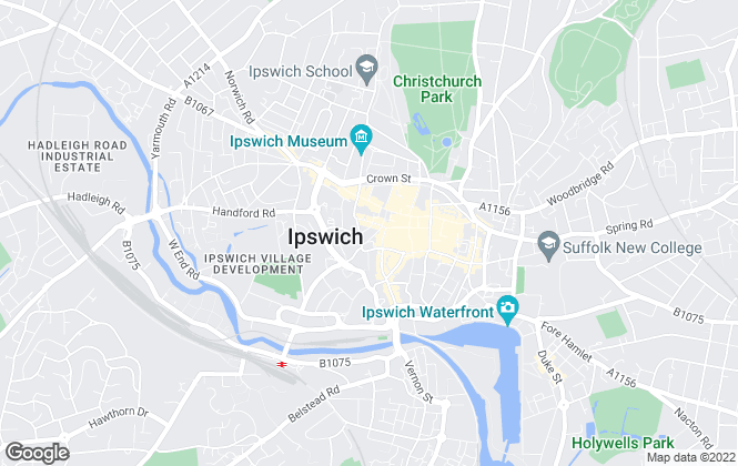 Map for Connells, Ipswich