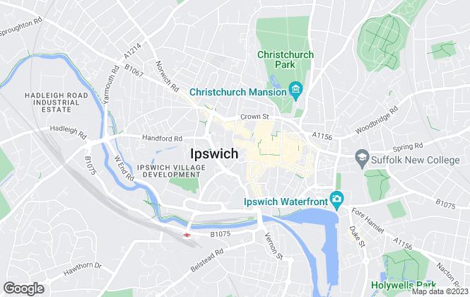 Map for Savills (UK) - Commercial, Ipswich