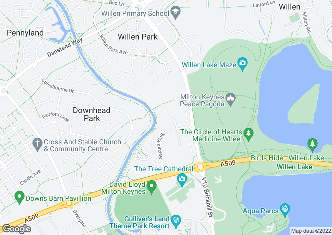 Map for Ullswater at Gyosei, Japonica Lane,
