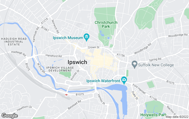 Map for Bairstow Eves, Ipswich