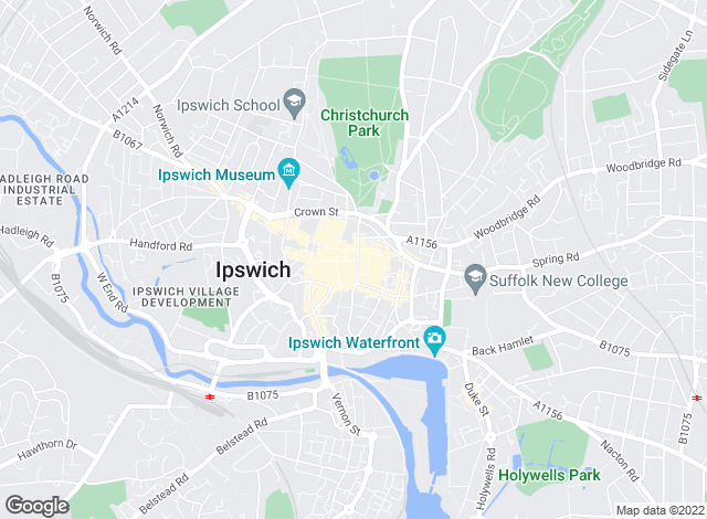 Map for Thompsons, Ipswich