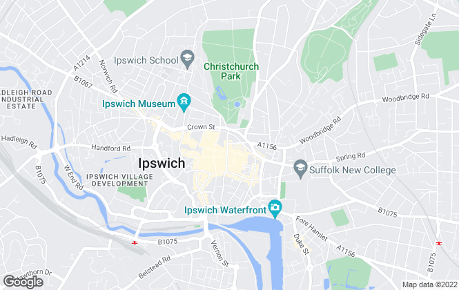 Map for easyProperty, Ipswich