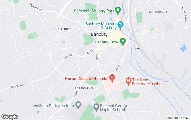 Map for Savills, Banbury