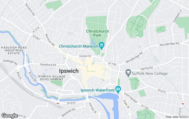 Map for Richard Hawkins, Ipswich