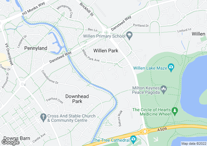 Map for Hammond Crescent, Willen Park, Milton Keynes, MK15
