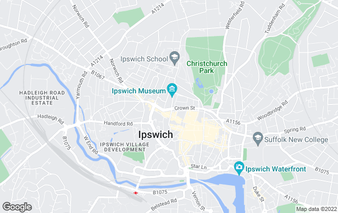 Map for Christie & Co , Ipswich