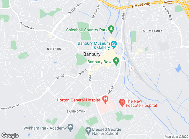 Map for Martin & Co, Banbury - Lettings & Sales