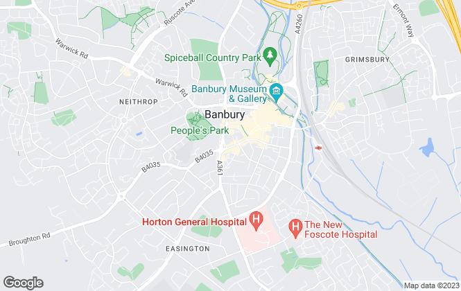 Map for Maxwells Estate Agents, Banbury