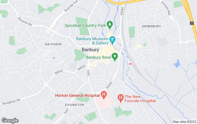 Map for Bairstow Eves, Banbury