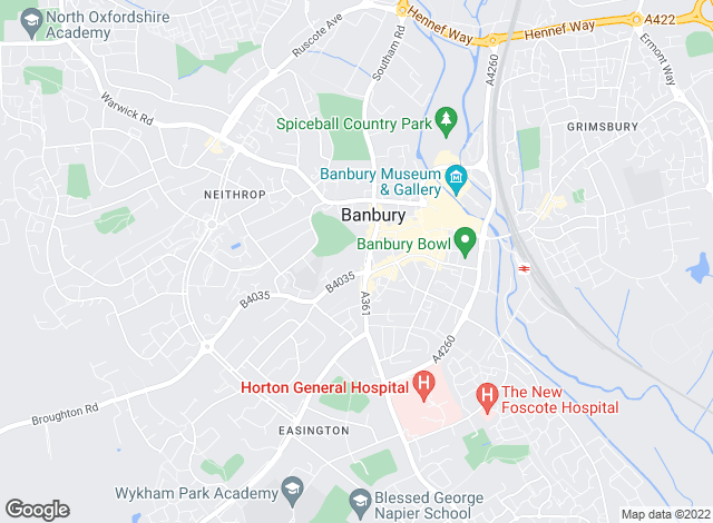 Map for Strutt & Parker, Banbury