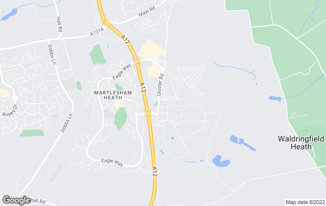 Map for Jonathan Waters Estate Agents Limited, Martlesham Heath