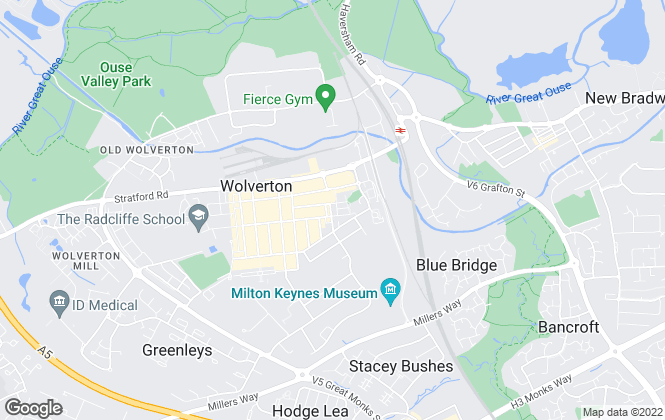 Map for The Property Suite, Wolverton