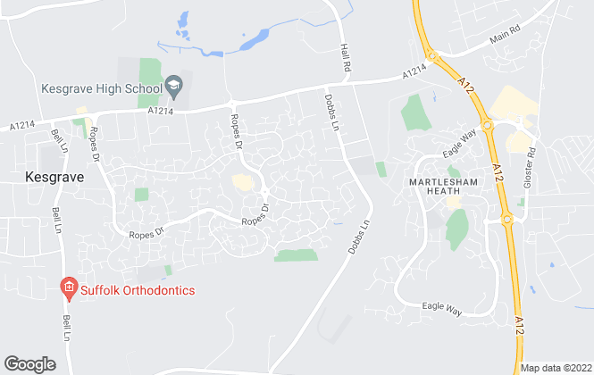 Map for Austwick Berry Estate Agents, Kesgrave