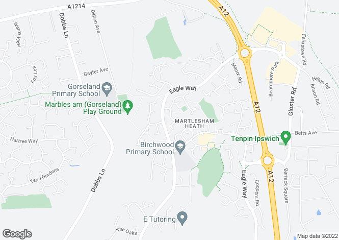 Map for Carlford Close,  Martlesham Heath