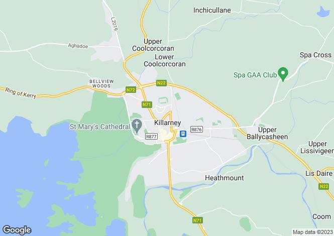 Map for 15 O'Sullivan's Place, Killarney, Kerry