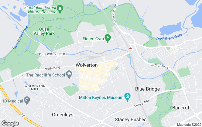 Map for Avenues Estate Agents, Wolverton