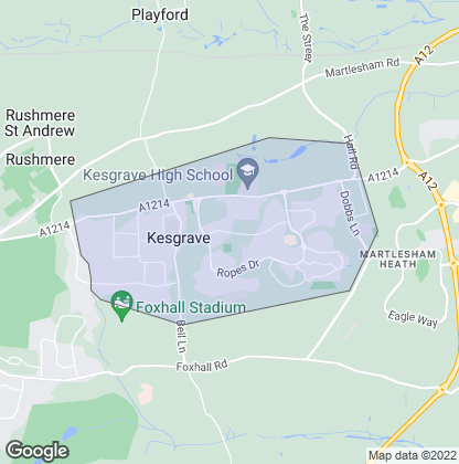 Map of property in Kesgrave