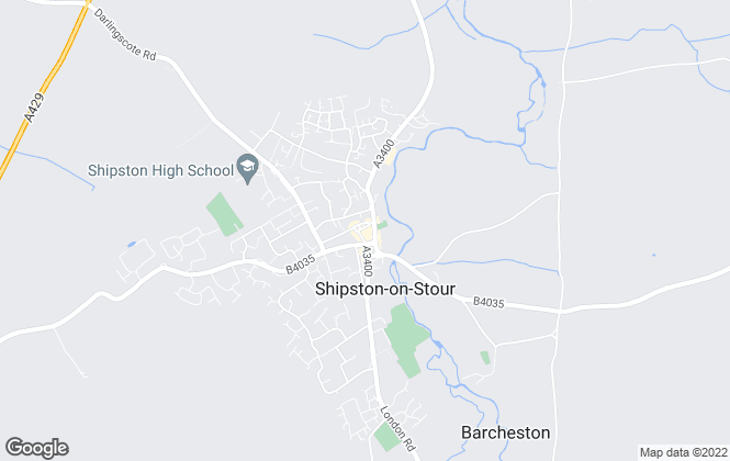 Map for Sheldon Bosley Knight, Shipston-On-Stour
