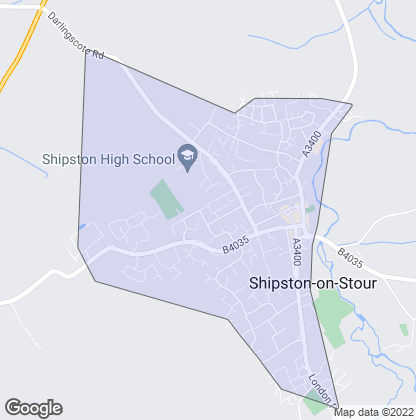Map of property in Shipston-On-Stour