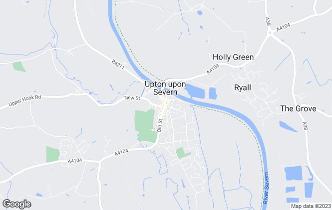 Map for John Goodwin FRICS, Upton Upon Severn