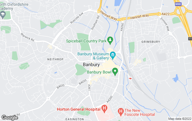 Map for White Commercial Surveyors, Banbury